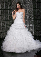 2015 stylish ruffle beautiful wedding gown #OW466