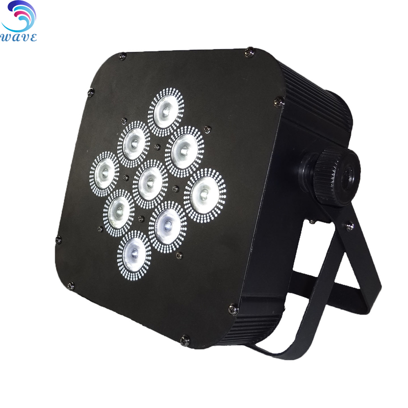 Led Stage Light 9pcs 8w Rgba Battery Disco Light Effect Wireless dmx Control Cube Wirelss Flat Par Can Lights