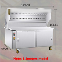 Stainless steel automatic barbecue grill machine/smoke-free charcoal barbecue grill