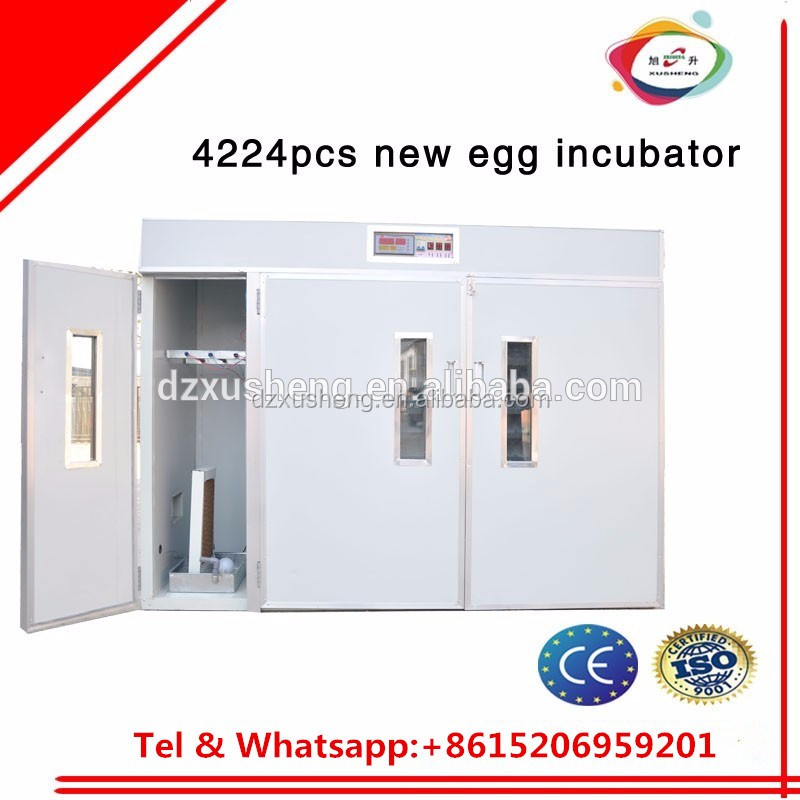 automatic control commercial 4224pcs chicken egg incubator and hatcher for sale