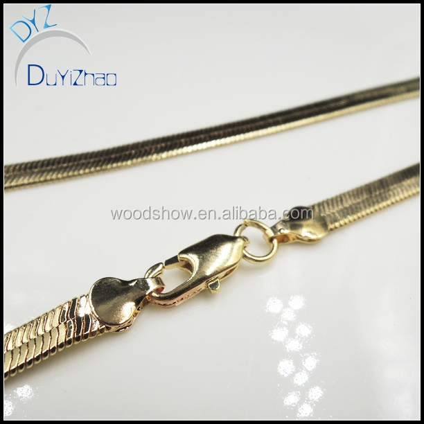 Gold Plated necklace Herringbone Chain latest chain designs for man