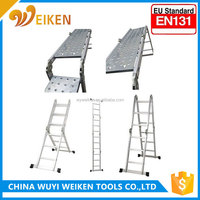 Multifunction 12 steps ladder, portable fashion design folding ladders