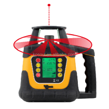 Rotary Laser Level 400HV Red Beam with Setting Slope Function & LCD Display