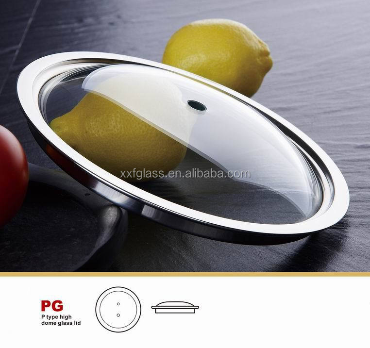 14cm-45cm fry pan toughened glass lid cover