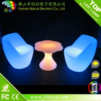 Outdoor and Indoor Plastic Rechargeable Illuminated LED Bar Furniture/LED furniture/Used commercial bar sale