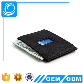 Ultra thin Credit Card Protector Saffiano leather Wallet RFID Blocking Slim Travel Wallet FOR MEN