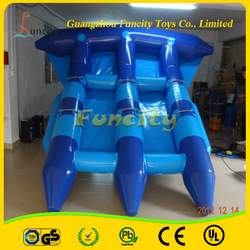 Customzied logo inflatable fly fish toy /fly fish banana boat/water games flyfish