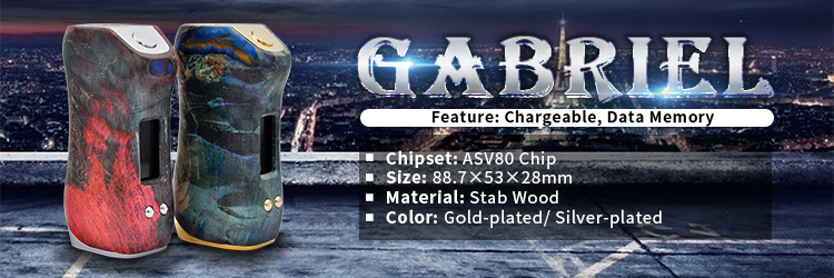 Asvape Gabriel Stab Wood Vape With ASV80 Chipset