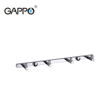 GAPPO 1 set High quality 4 clothes hook Hooks Wall mount Coat Hat hanger Tower Holder zircalloy Bathroom Towel Hanger G202-4