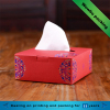 Red hot stamping tissue box/paper material napkin boxes with hole
