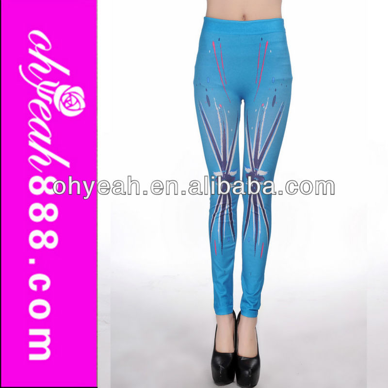 Good looking high waist jeggings shiny seamless tights leggings
