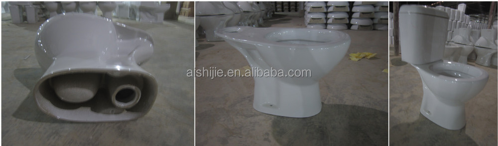 B1103 new design p trap toilet two piece ceramic toilet