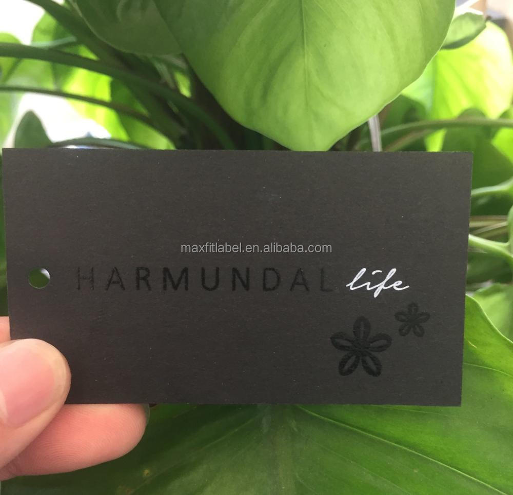 Custom 350gsm black cardbozrd paper business cards with copper foil logo