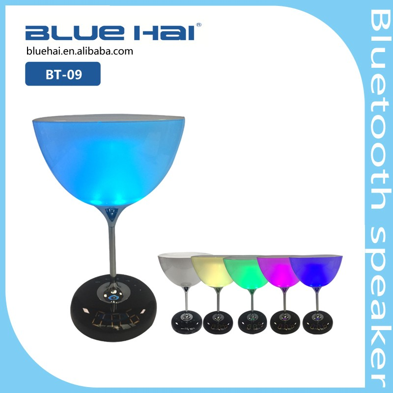Best LED Bluetooth Smart Lamp Light Wireless Bluetooth Speaker With Digital Screen Support APP Smartphone Control