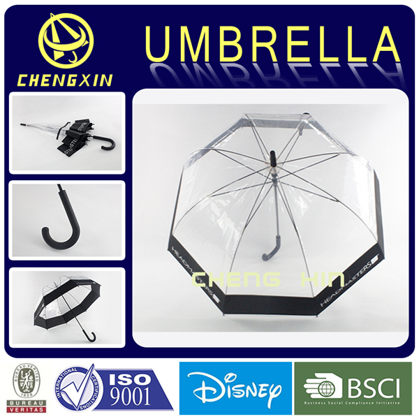 Plastic of POE straight umbrella
