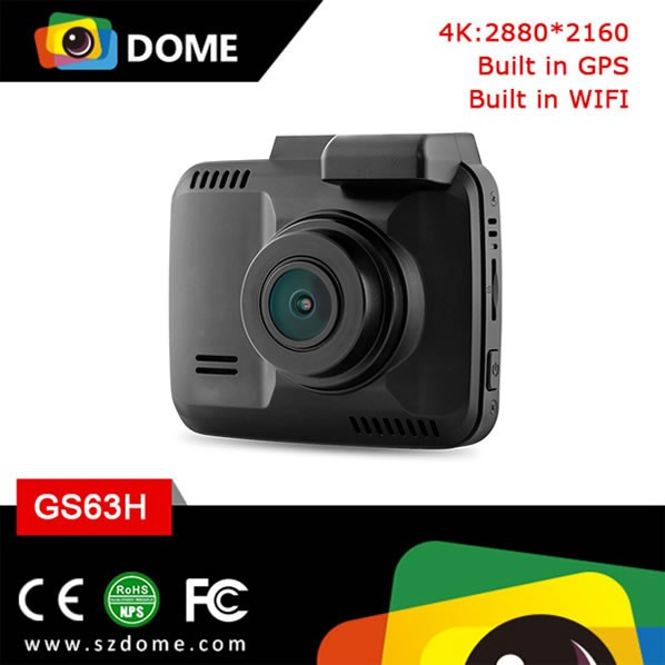 New model WIFI car dvr built-in GPS dashcam novatek96660 4K car dvr camera with 2.4 inch LCD mini size car dashcam GPS