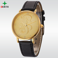 Chinese Zodiac Unisex Gold African Advertisement watch with free gift box