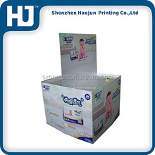 Color Recycled Cardboard dump bin / corrugated cardboard nappy dump bin display for retail