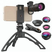 New Trending 5 IN 1 Mobile Accessories Universal 18x Telescope Lens Kit with Handheld Tripod