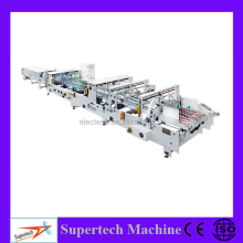 High Speed Bottom Lock Type Paper Bag Folding Gluing Machine