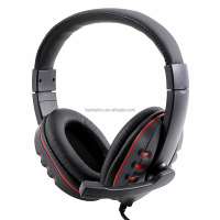 IC265 Luxury Gaming Headset Headphone Leather Earphone with Microphone for Sony PS3 PC