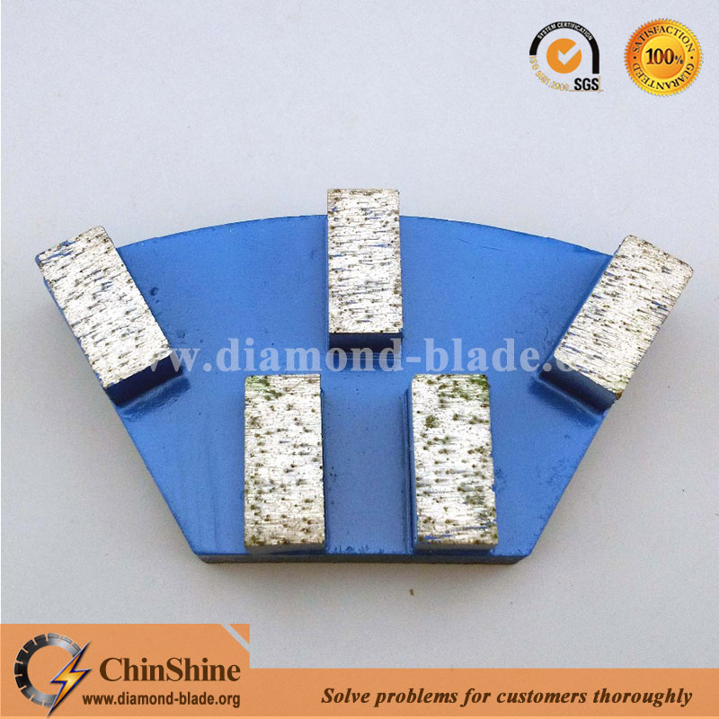 Quick change diamond grinding plate for Cassani concrete floor grinding machine