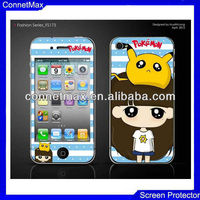 Fashionable Cartoon cute lovely kawaii sweet Skin Screen Protector Sticker Film for iPhone4 4G 4S