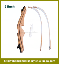TAKE-DOWN WOODEN RECURVE BOW WITH LAMINATED RISER