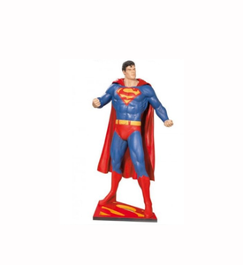 Factory custom made handmade carved hot new products resin life size superman statue