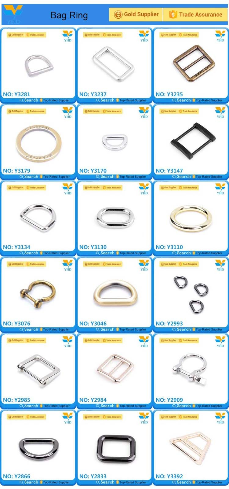 25mm fashion metal bag square buckle