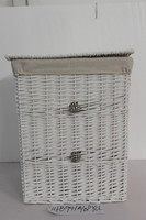 rectangular vicker laundry basket,willow basket