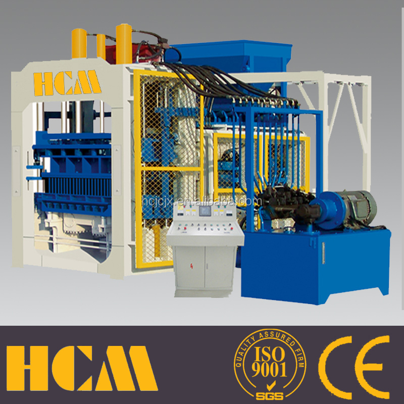 Free shipping to South Africa stationary concrete brick making machine QT12-15 automatic hydraulic block machine