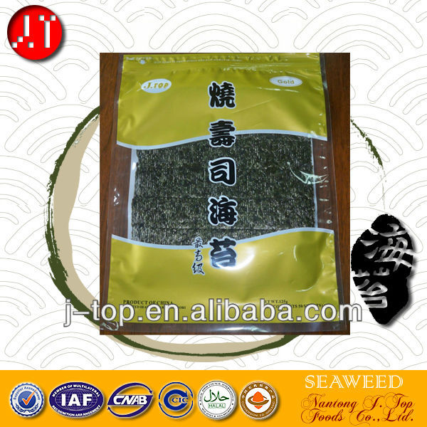 J.TOP seafood snack 50sheets blue grade dried brown seaweed for sushi nori