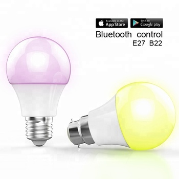 bluetooth rgb led smart light bulb/led app controlled smart bulb/rgbw bulb bluetooth