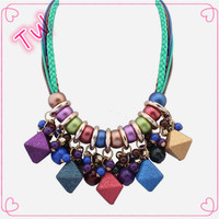 Low cost high quality fashion plastic beaded jewelry jewellery italy latest trends unisex tribal style hip hop necklace