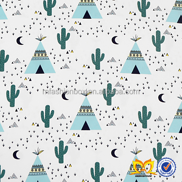In Stock Cactus Printed Fabric Wholesale China Supplier Comfortable Patchwork Fabric