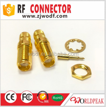 free samples straight SMA female jack bulkhead rfconnector with crimp coaxial LMR240 cable