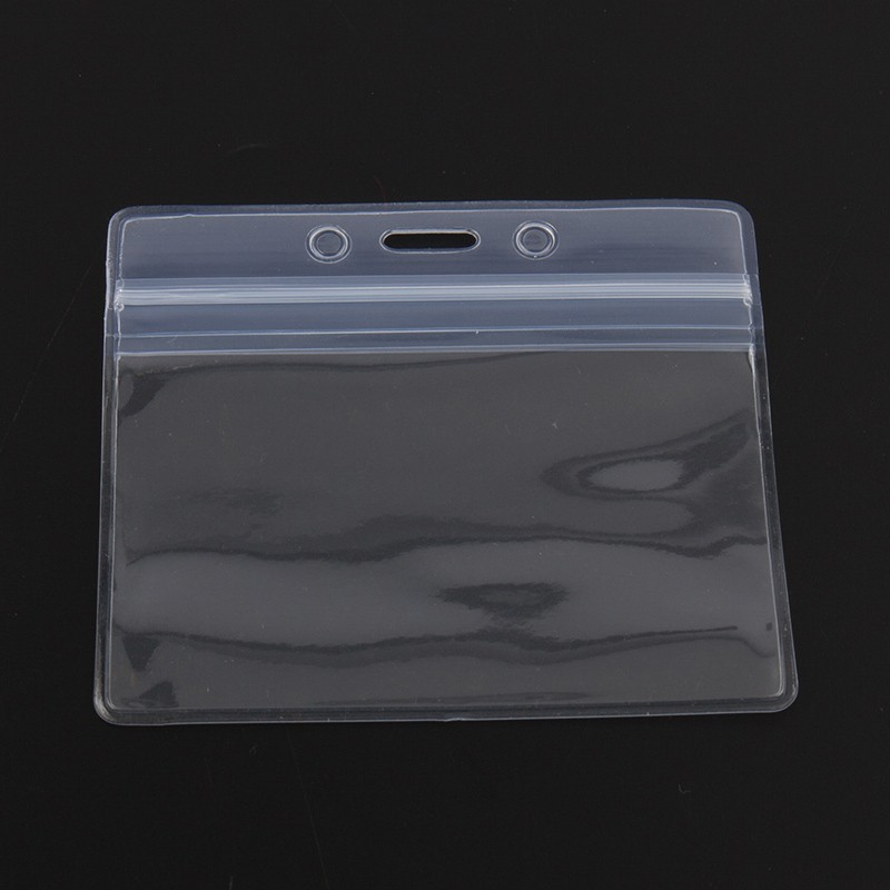 soft clear plastic id badge holder for id card protector