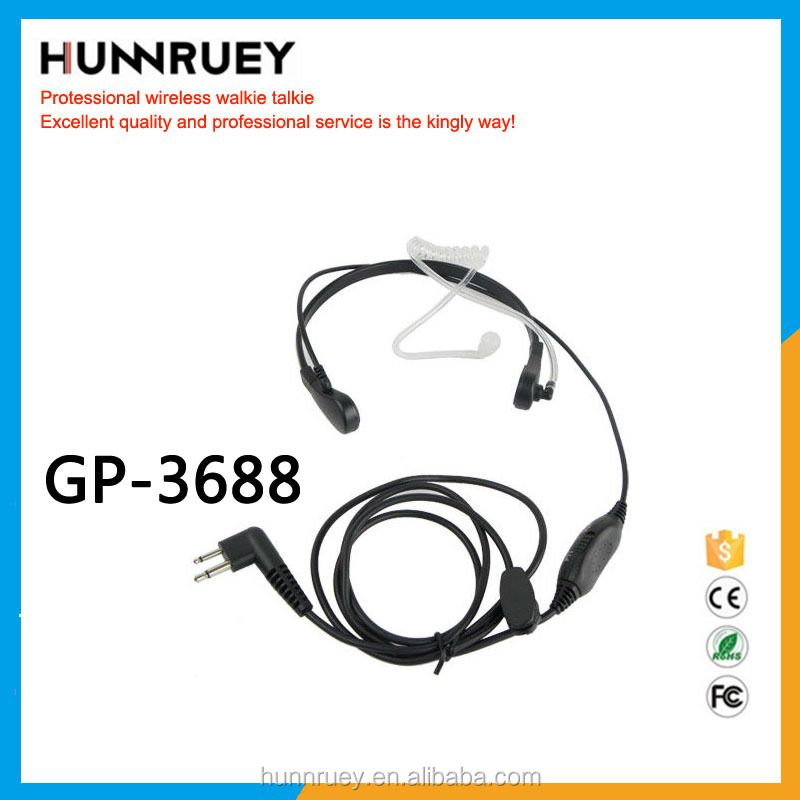 Popular Headset for walkie talkie GP3688/3188/GP2000/2000S Walkie Talkie Military Headset