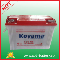 Factory Price Three Wheels Tricycle Batteries 12V 150ah