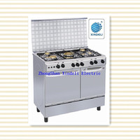 Auto ignition controlling model free standing gas cooker with gas stove