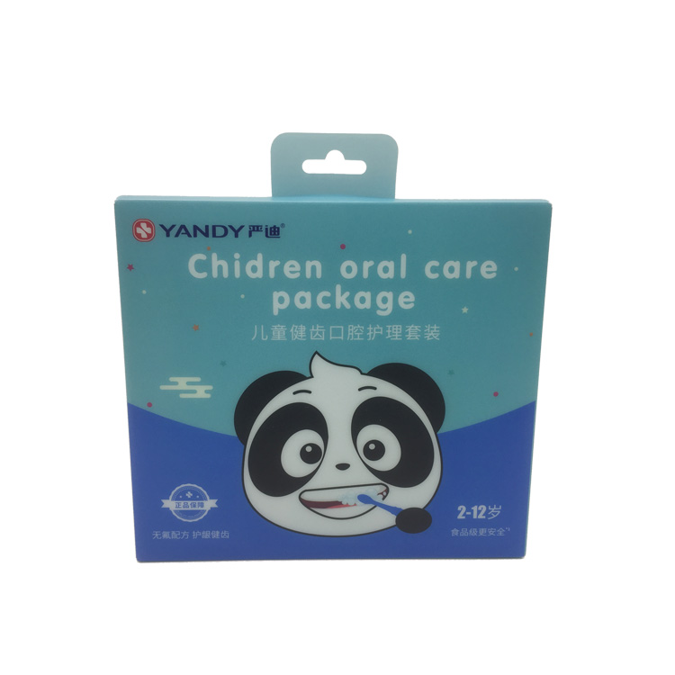 Custom Printed Matte PP Plastic Foldable Box with Handle Children Oral Care Product Packaging Box