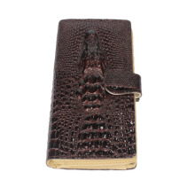 pu Leather 3D Embossing Alligator Ladies Crocodile Long Clutch Wallets