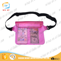 2016 new products high quality waist PVC waterproof bag for swimsuit