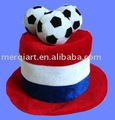 Factory direct sell plush football fans hats carnival hat