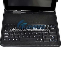 8 inch USB Leather Case with Keyboard for APad, ePad, android MID Tablet PC
