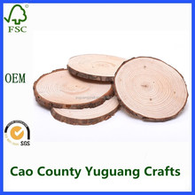 round wood log slices discs for diy crafts wedding centerpieces