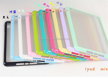 Wholesale cell phone accessories for iPad mini retina 2,clear pc tpu case for iPad mini retina 2,TPU + transparent PC hard case