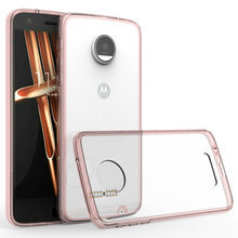transparent silicon frame plastic phone case for moto z droid