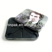 round tin dvd box cd film packaging with zipper